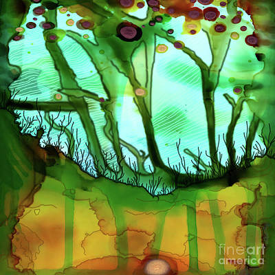 Poster featuring the painting Abstract Ink 6 by Amy E Fraser