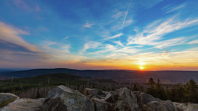 Poster featuring the photograph Achtermann Sunset, Harz by Andreas Levi