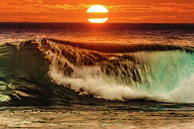 Ahh.. The Sunset Wave Poster