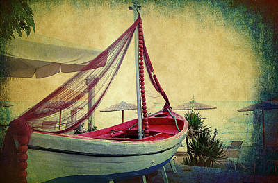 Poster featuring the photograph an Old Boat by Milena Ilieva