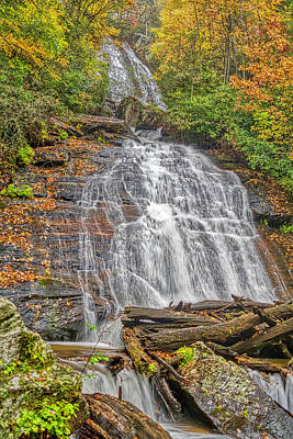 Poster featuring the photograph Anna Ruby Falls Right by Meta Gatschenberger