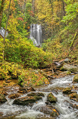 Poster featuring the photograph Anna Ruby Falls Stream by Meta Gatschenberger