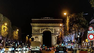 Poster featuring the photograph Arc De Triomphe by Randy Scherkenbach