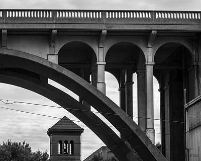 Poster featuring the photograph Ashton Viaduct I Bw by David Gordon
