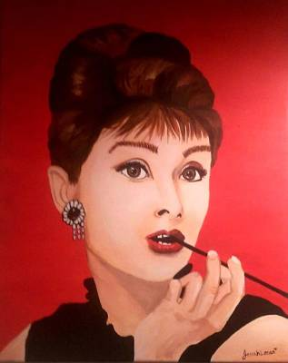 Poster featuring the painting Audrey  by Jennah Lenae