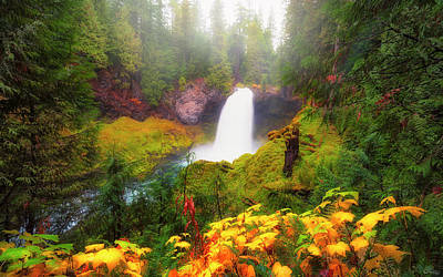 Autumn At Sahalie Falls Poster