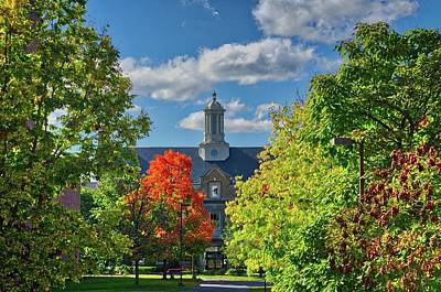 Poster featuring the photograph Autumn Beauty At Cornell University - Ithaca, New York by Lynn Bauer