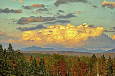 Autumn Clouds Over Maine Poster