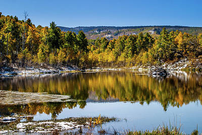 Poster featuring the photograph Autumn Cove At Ivie Pond by TL Mair