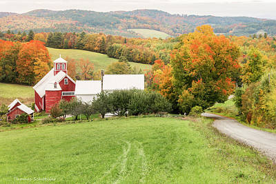 Poster featuring the photograph Autumn From The Bogie Mountain Farm - Vermont by Expressive Landscapes Fine Art Photography by Thom