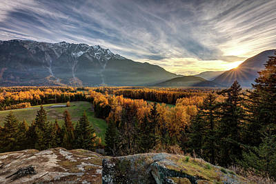 Poster featuring the photograph Autumn In The Valley Of Pemberton by Pierre Leclerc Photography