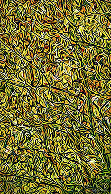 Poster featuring the digital art Autumn Leaves Abstract by Joel Bruce Wallach