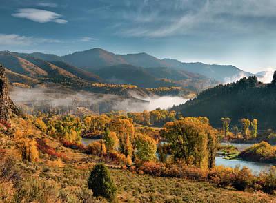 Autumn Light Along The Snake River Poster