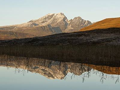 Poster featuring the photograph Autumn Meets Winter At Blaven by Stephen Taylor