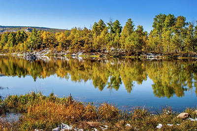 Poster featuring the photograph Autumn Reflections At Ivie Pond by TL Mair