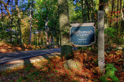 Poster featuring the photograph Autumn Road In Malborough, Nh by Joann Vitali