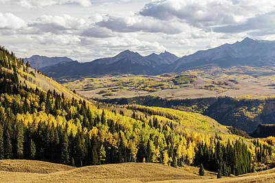 Poster featuring the photograph Autumn Season View Of Sneffles Ten Peak by James BO Insogna