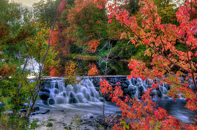 Poster featuring the photograph Autumn Waterfall - Peterborough, Nh by Joann Vitali
