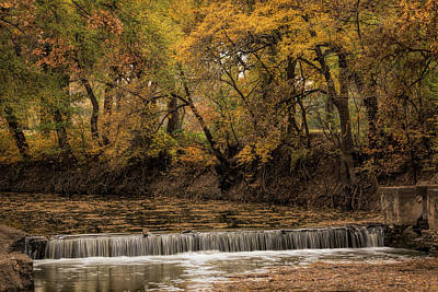 Poster featuring the photograph Autumn Waterfall by Scott Bean