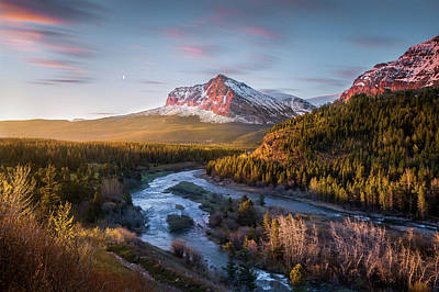 Poster featuring the photograph Awakening // Many Glacier // Glacier National Park  by Nicholas Parker