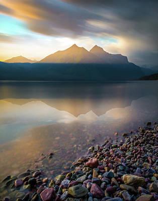 Poster featuring the photograph Backlit / Lake Mcdonald, Glacier National Park  by Nicholas Parker