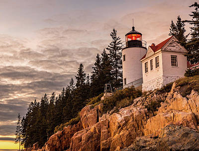 Poster featuring the photograph Bass Harbor Lighthouse by Dan Sproul