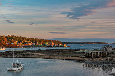 Poster featuring the photograph Bass Harbor Sunset by Rick Hartigan