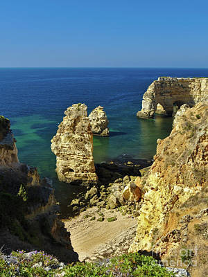 Beautiful Marinha Beach From The Cliffs Poster