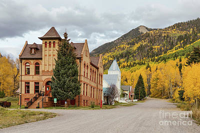 Poster featuring the photograph Beautiful Small Town Rico Colorado by James BO Insogna