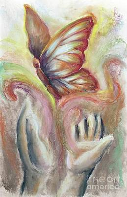 Poster featuring the pastel Beauty For Ashes by Lisa DuBois
