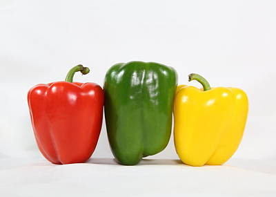 Poster featuring the photograph Bell Pepper Support Group by Debi Dalio
