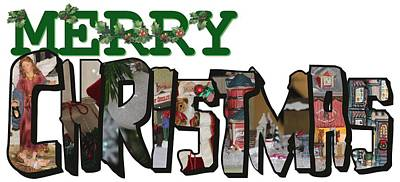 Big Letter Merry Christmas Poster