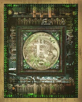 CANVAS Bit Coin Poster Art Print POSTER