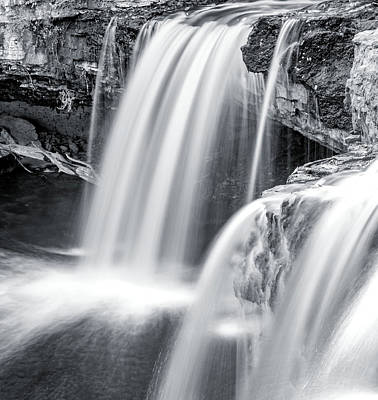 Poster featuring the photograph Black And White Ludlow Falls by Dan Sproul