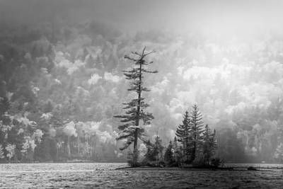 Poster featuring the photograph Black And White Moody Morning Moosehead Lake by Dan Sproul