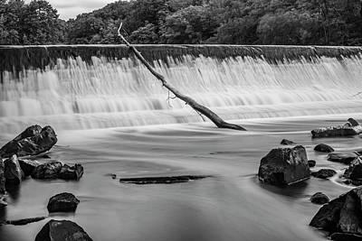 Poster featuring the photograph Blackstone River Xv  Bw by David Gordon