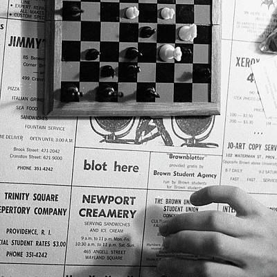 Blot Here, Aka Black's Move, 1972 Poster
