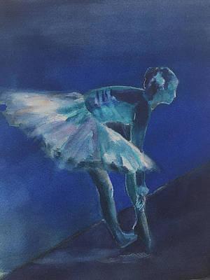 Blue Ballerina Poster