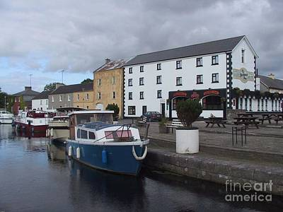 Poster featuring the painting Richmond Harbour  In Cloondara, Co Longford by Val Byrne