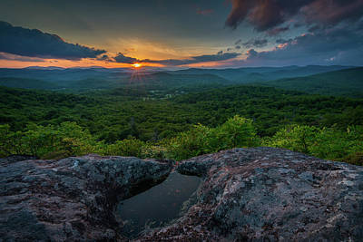 Blue Ridge Mountain Sunset Poster