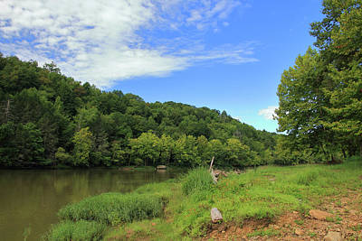 Poster featuring the photograph Blue Sky At Cumberland River by Angela Murdock