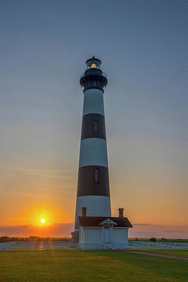 Poster featuring the photograph Bodie Island, Sunrise, Obx by Cindy Lark Hartman