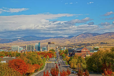 Poster featuring the photograph Boise In Fall by Dart and Suze Humeston