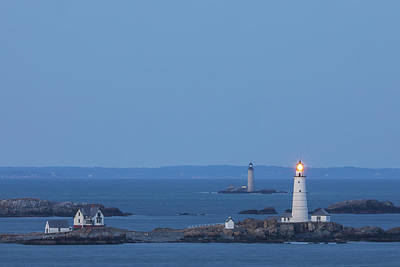 Poster featuring the photograph Boston Light And Graves Light by Juergen Roth