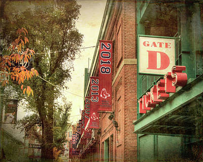 Poster featuring the photograph Boston Red Sox Fenway Park 2018 World Series Champion Banner by Joann Vitali