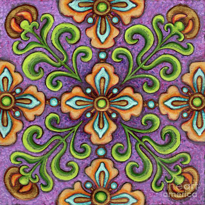 Botanical Mandala 10 Poster