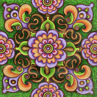 Botanical Mandala 5 Poster