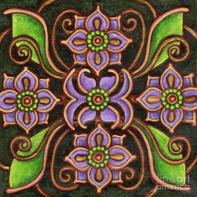 Botanical Mandala 6 Poster