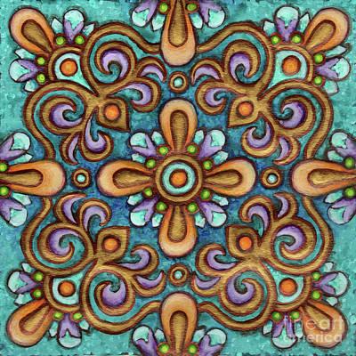 Botanical Mandala 7 Poster