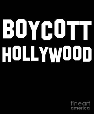 Boycott Hollywood Poster